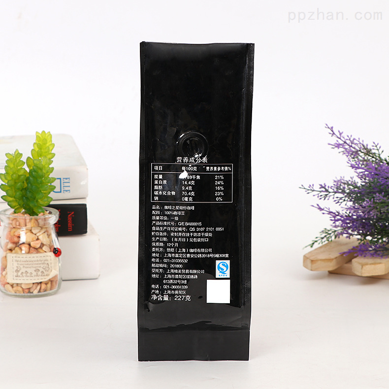 聚�V包�b�S生�a四�封PET自立咖啡豆袋