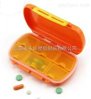 东莞厂家销售高品质6格密封药盒带防水密封圈防潮药盒